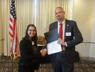 Houston Chapter recognizes Region VIII Scholarship Recipient