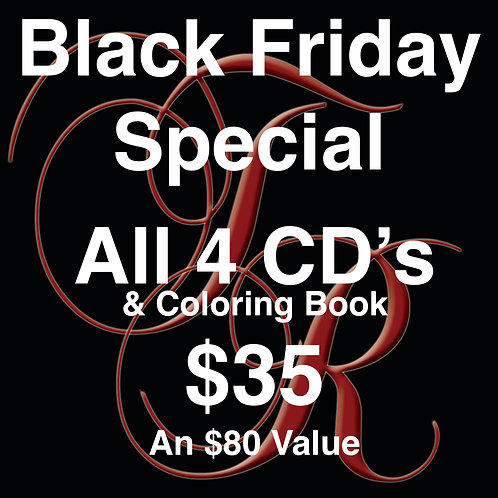 Black Friday Special ... all 4 CD's & Coloring Book