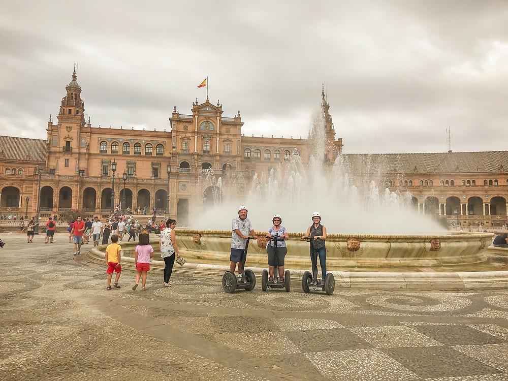 Segways, Plaza de España, Sevilla, Seville, S