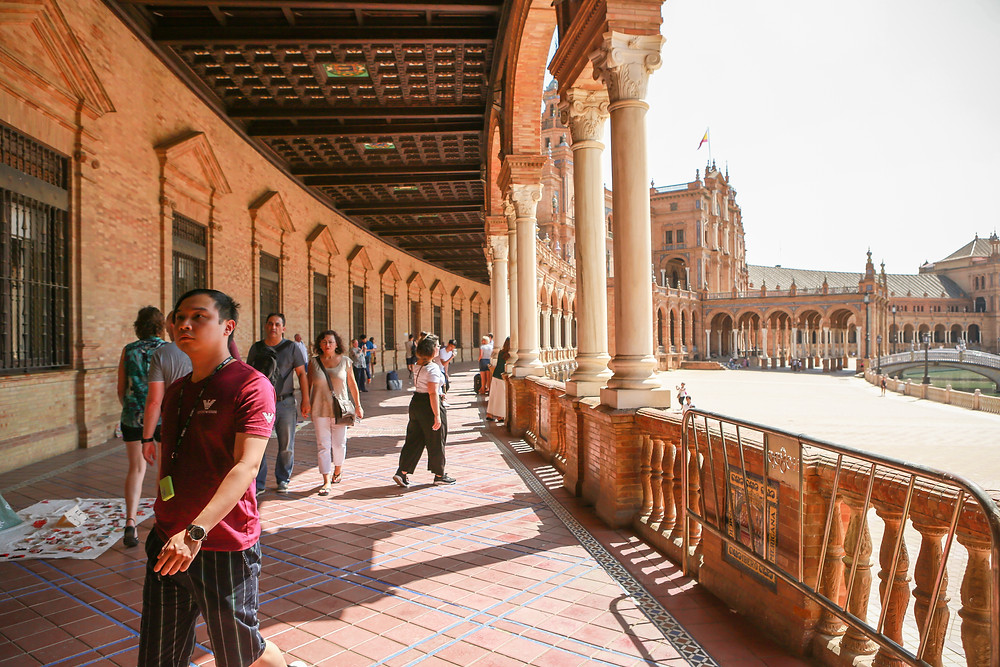 Sevilla, España, Seville, Spain, study abroad, Rose Wine Photography, plaza de España, Star Wars scene