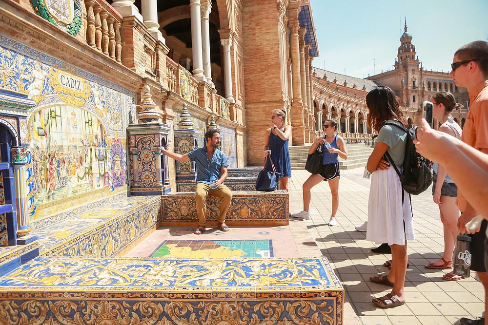 Sevilla, España, Seville, Spain, study abroad, Rose Wine Photography, plaza de España