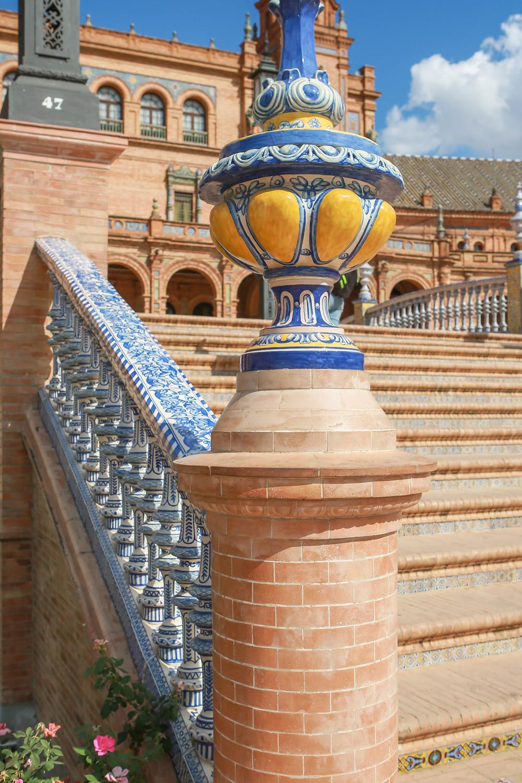 Sevilla, España, Seville, Spain, study abroad, Rose Wine Photography, plaza de España, details