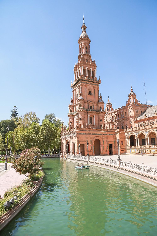 Sevilla, España, Seville, Spain, study abroad, Rose Wine Photography, plaza de España, boat rides