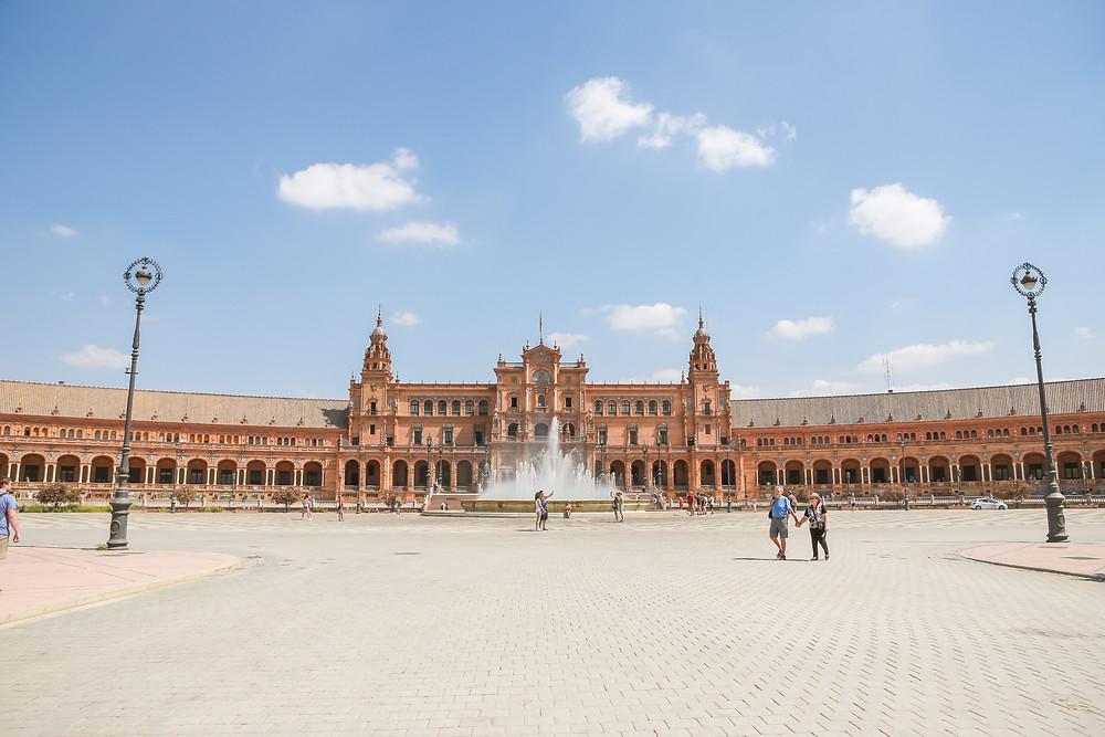 Plaza de España, Sevilla, España, Seville, Spain, study abroad, Rose Wine Photography