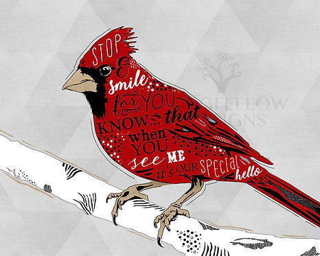 Cardinal Bird - Lost Loved One Visiting