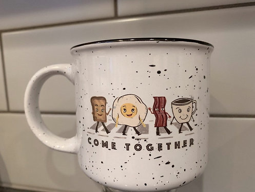 13 Oz. Ceramic Campfire Mug - Come Together - Breakfast play on Abbey Road