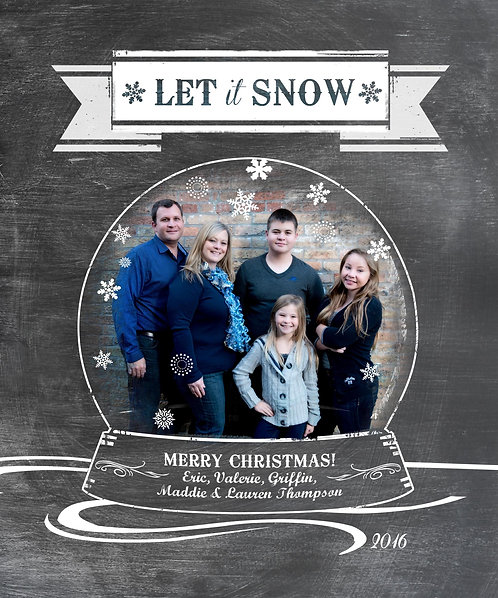 Snow Globe - Photo Christmas Card