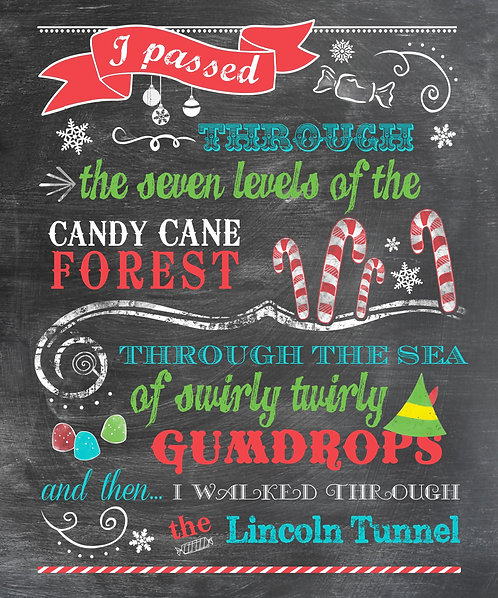 Buddy The Elf - Candy Cane Forest - Aqua Accent
