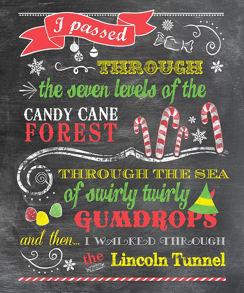 Buddy The Elf - Candy Cane Forest