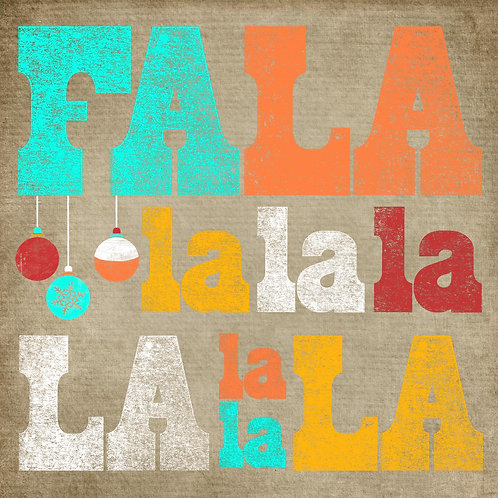 Falalalala - Aqua/Orange