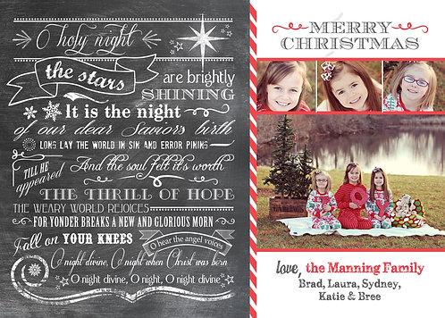 O Holy Night - Photo Christmas Card