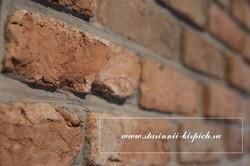 стена из кирпича ручной форовки