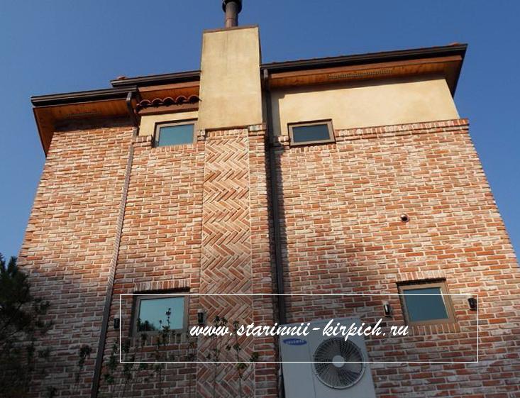 Фасад из плитки старого кирпича цена