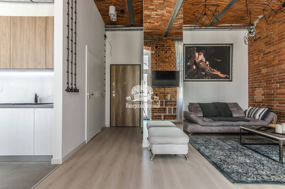 Кирпичный потолок фото