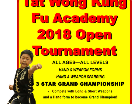 Tat Wong Kung Fu Championship - Sunday, November 11