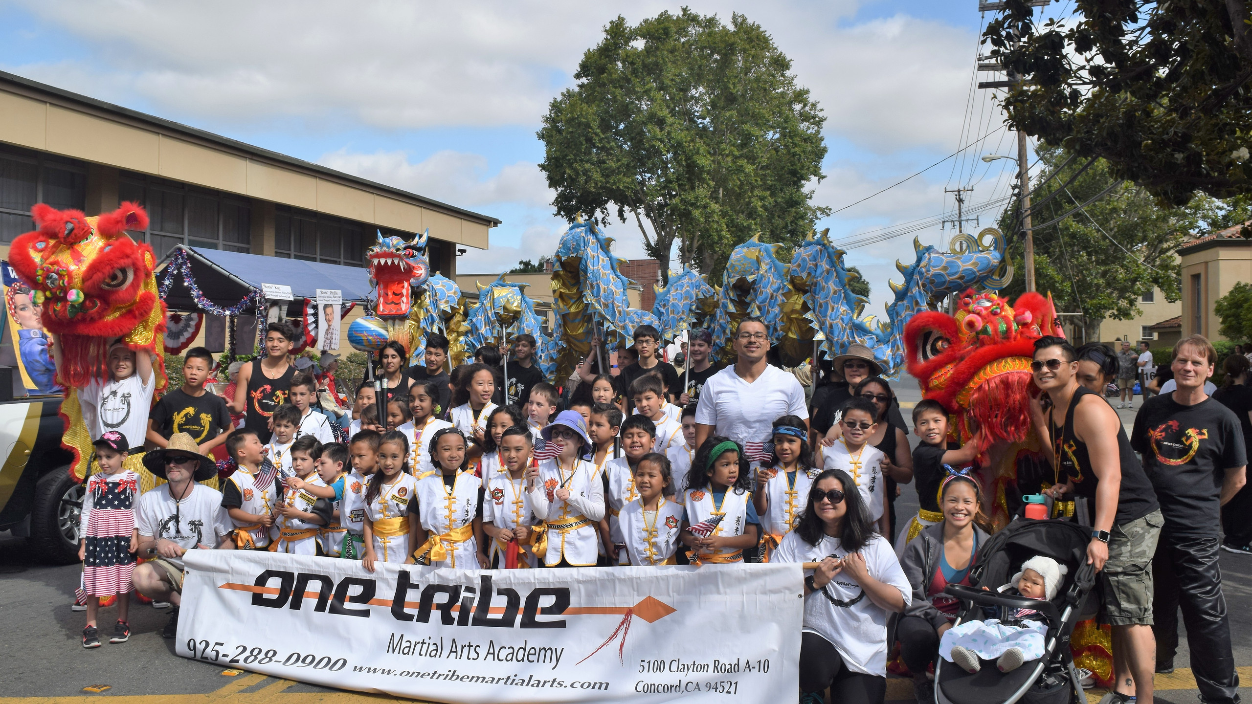 One Tribe Martial Arts Academy before the parade