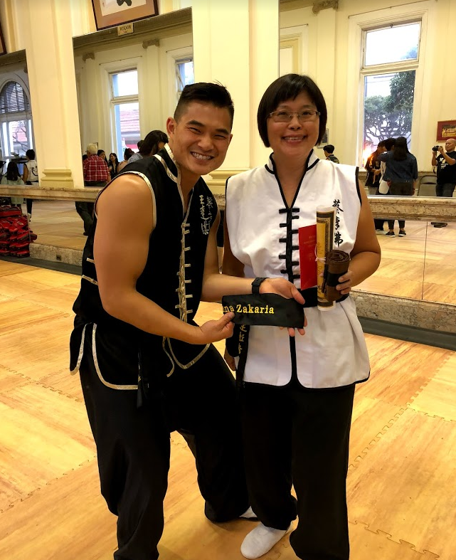 After 5 years of training and dedication she attained her black belt!  It's never too late to start!