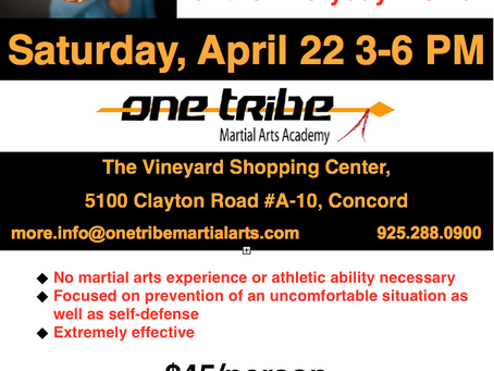 Awareness & Self-Defense for the Everyday Woman - April 22