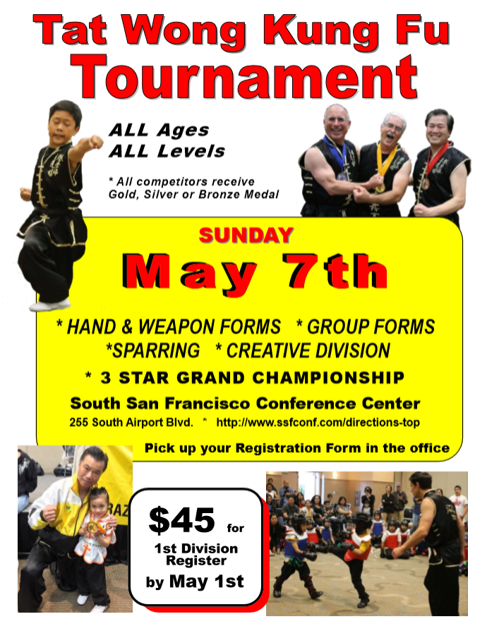 Sunday, May 7 $45 for 1st Division Register by May 1