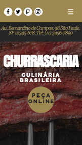 Restaurante website templates – Churrascaria