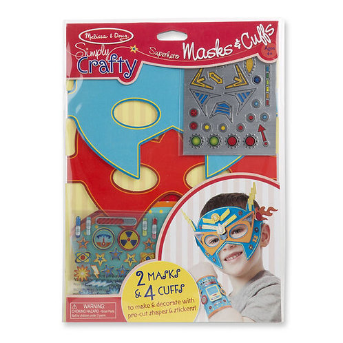 Melissa & Doug Superhero Masks & Cuffs