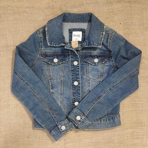 Mudd Girls Denim Jacket - Blue - Size 10Y