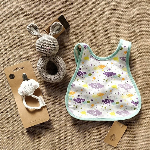 """""""Cloudy with a Chance of Bunnies"""" Baby Gift Bundle"""