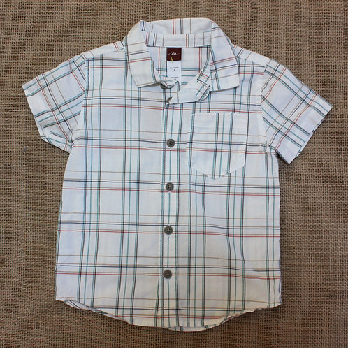 Tea Collection Button Down Shirt - White - Size 3