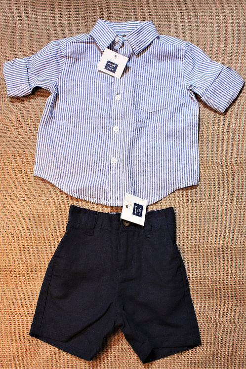 Janie & Jack Outfit - Blue - 6-12 months