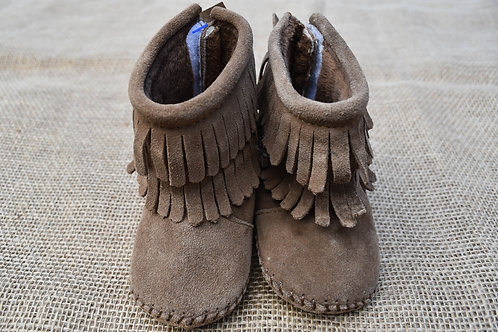 OX Moccs Booties - Brown - Size Baby 1