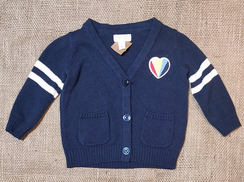 Gymboree Cardigan - Navy -  3-6mo
