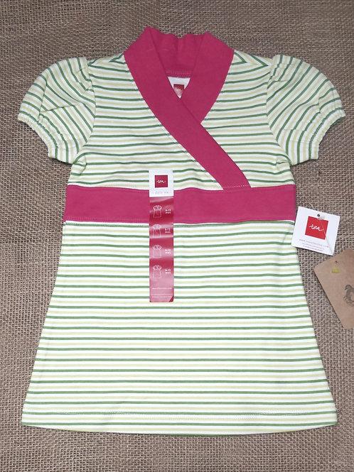 Tea Collection Dress - Green & Pink - 6-12 Months