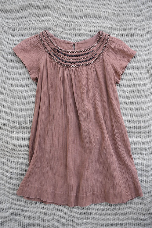 Bonpoint Dress - Brown - Size 8
