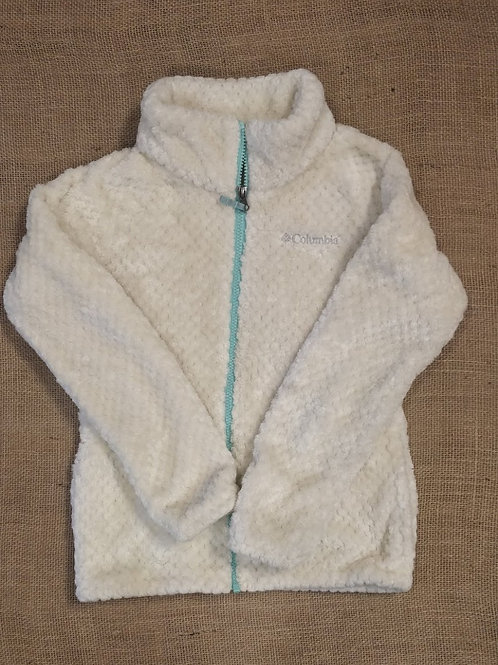Columbia Sherpa Fleece Jacket - Cream -Youth Medium (10/12)