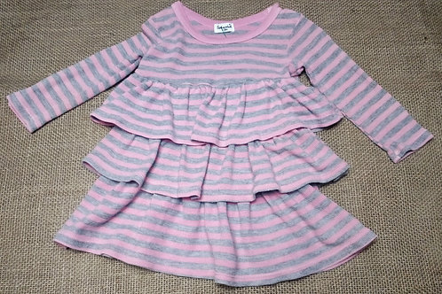 Splendid Dress - Pink & Gray - 6-12 Months