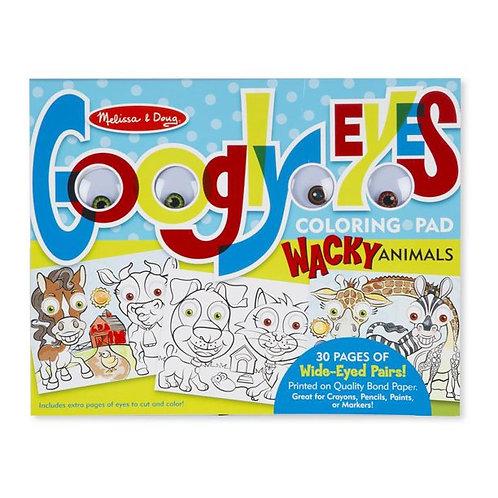 Melissa & Doug Wacky Animals - Googly Eyes Coloring Pad