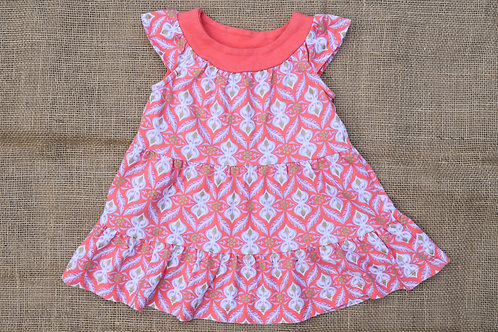 Tea Collection Dress - Coral - 6-12 Months