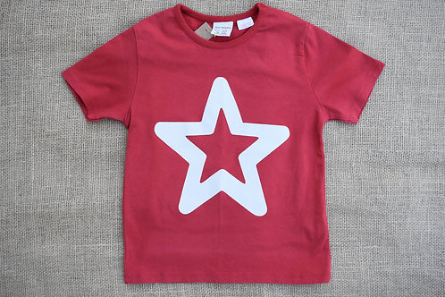 Zara T-Shirt - Red - 3/4Y