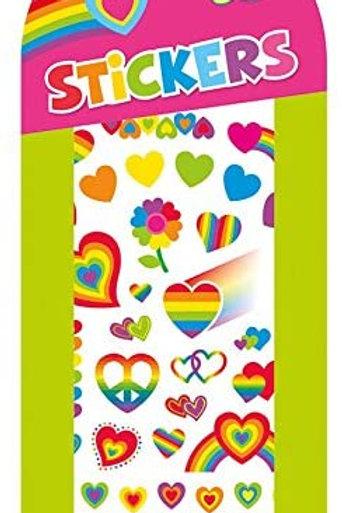 Peaceable Kingdom Rainbow Hearts Stickers