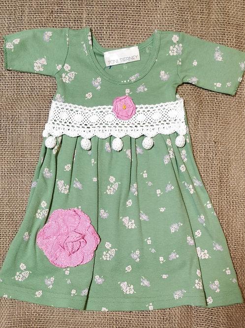 Toni Tierney Dress - Green -  6M
