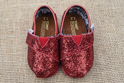 Toms Shoes - Red - Size Baby 2
