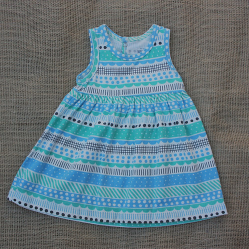 Winter Water Factory Dress - Blue - 3 months