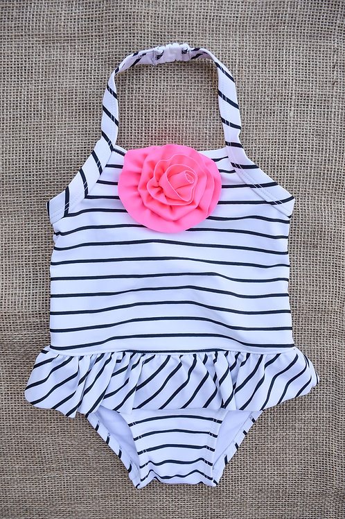 Old Navy Swimsuit - White - 12-18 months