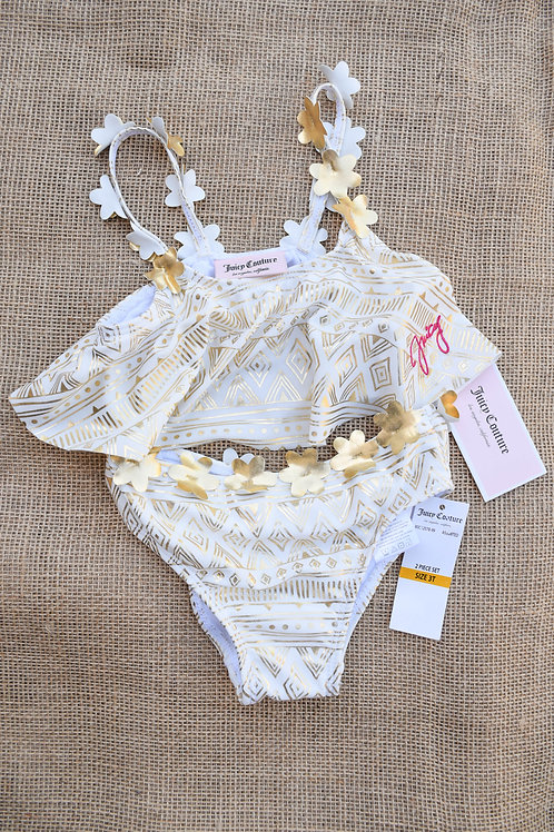 Juicy Couture Swimsuit - White & Gold - 3T