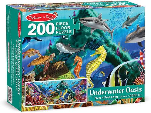 Melissa & Doug Underwater Oasis 200 Piece Floor Puzzle