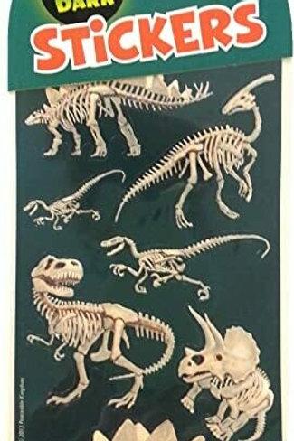 Peaceable Kingdom Glow in the Dark Dino Bones Stickers
