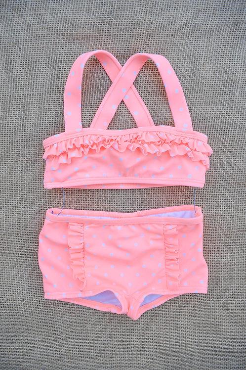 Janie & Jack Swimsuit - Peach - 6-12 months