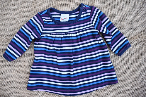 Hanna Andersson Dress - Blue & Purple - 50cm