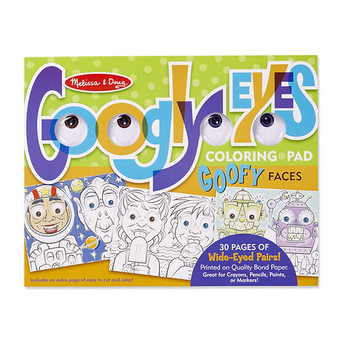 Melissa & Doug Goofy Faces - Googly Eyes Coloring Pad