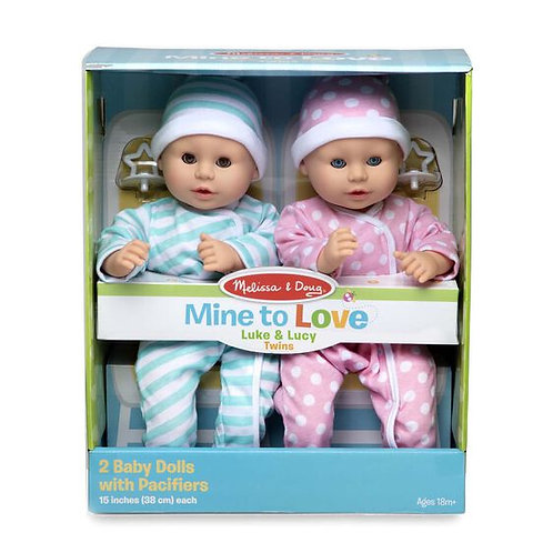 Melissa & Doug Mine to Love Twins - Luke & Lucy Dolls